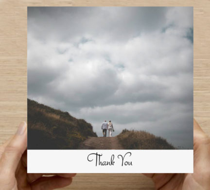 square thank you card