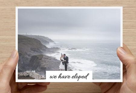 elopement card